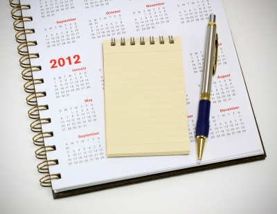 calendar and note