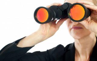 woman spying