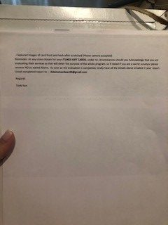 Scam photo Letter