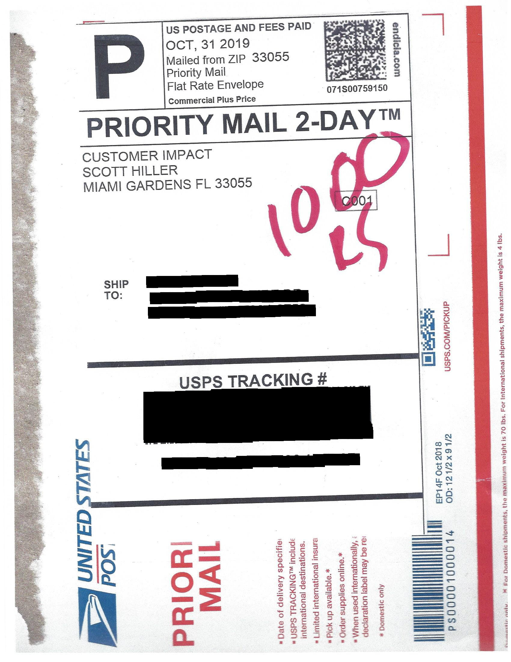 Mail Scam Materials - Package Mailer