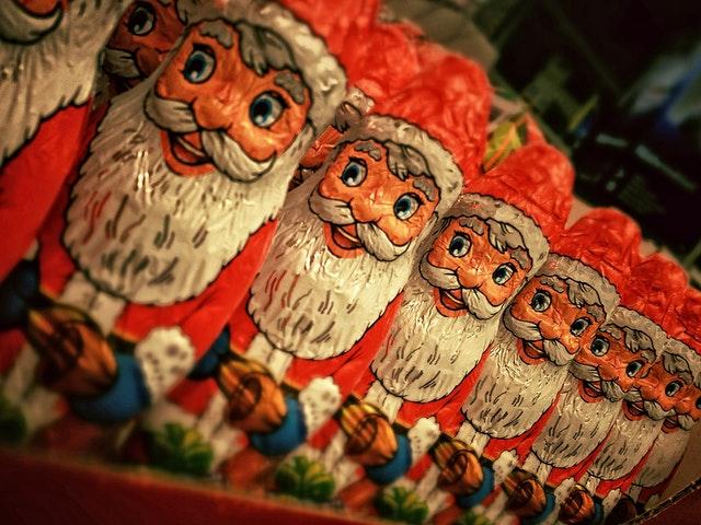 Santa Skipping Macy's