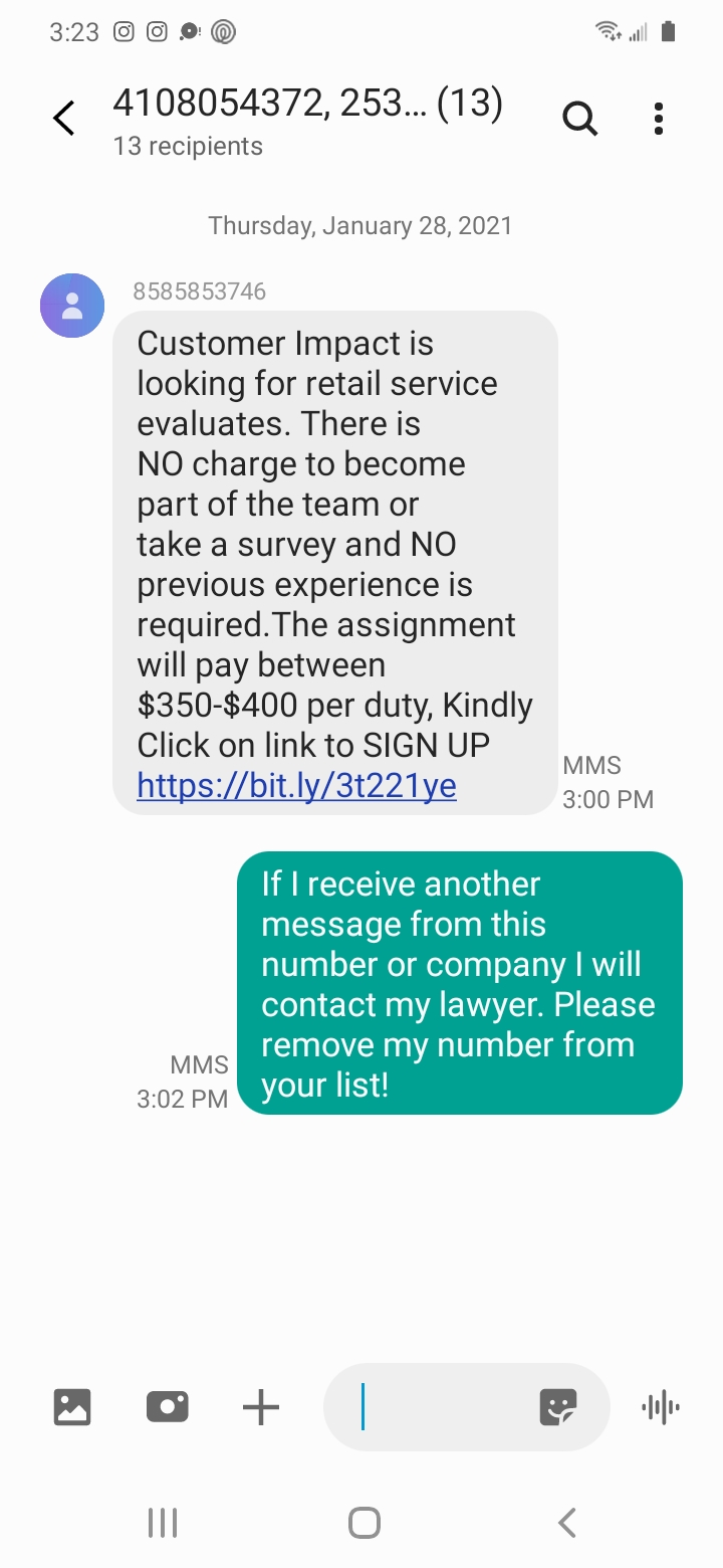 Scam Text #3 - Text Message